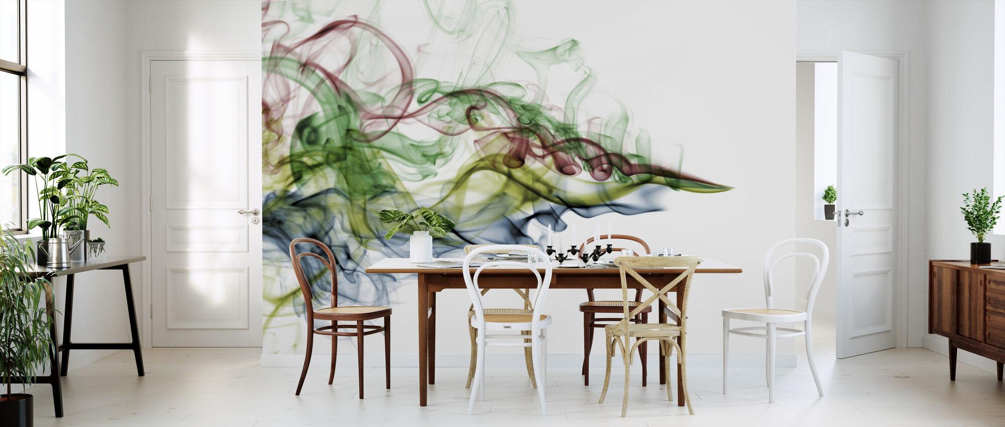 Kleur Rook - Behang - Keuken