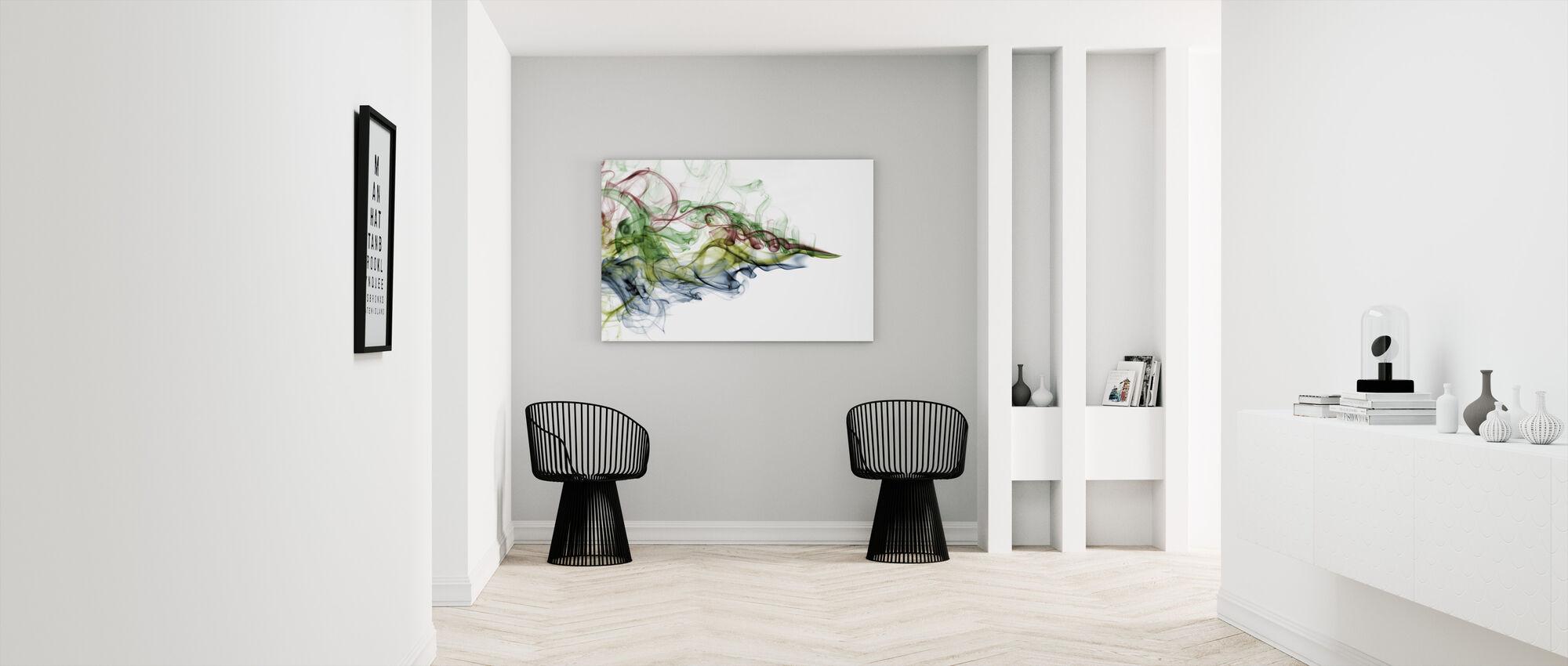 Color Smoke - Canvas print - Hallway