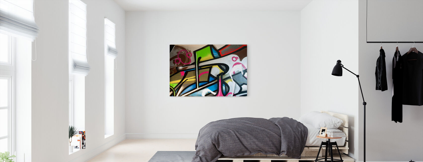 Colorful Graffiti - Canvas print - Bedroom