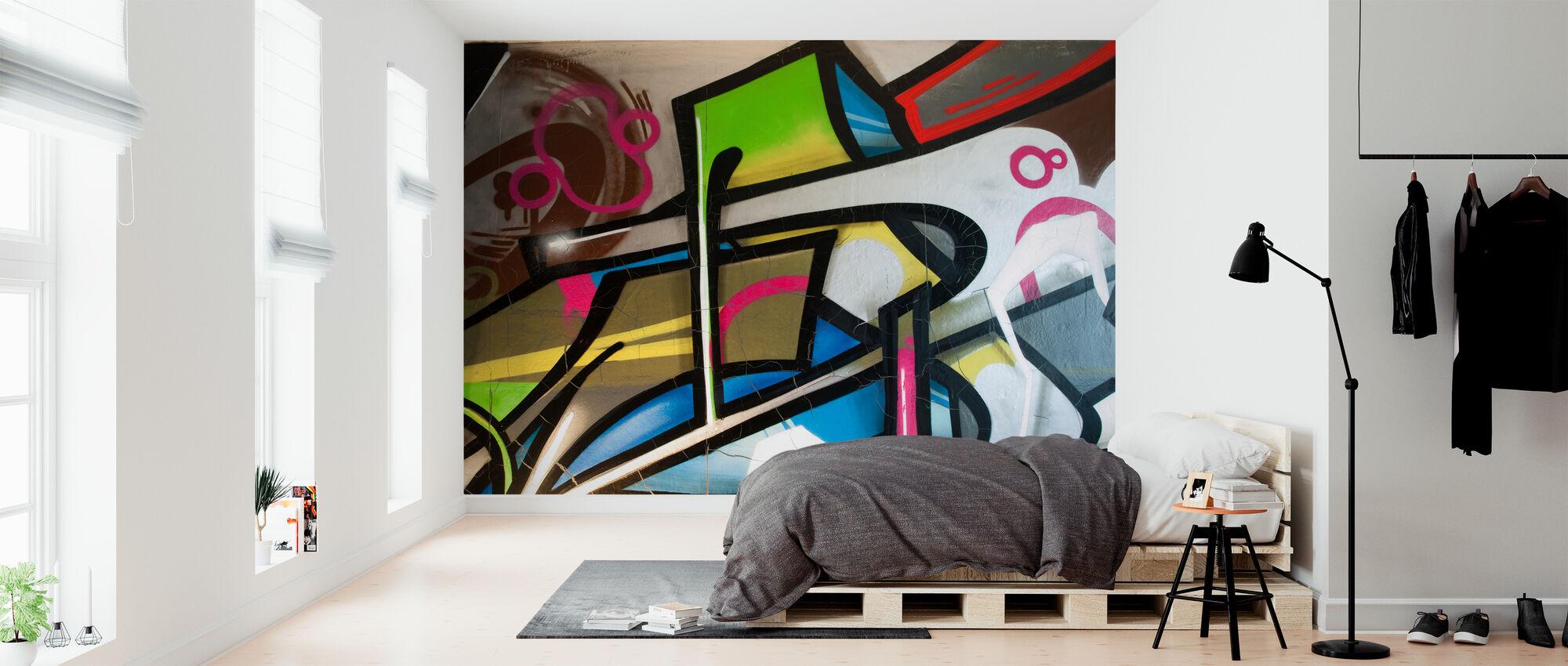 Färgglada graffiti - Tapet - Sovrum