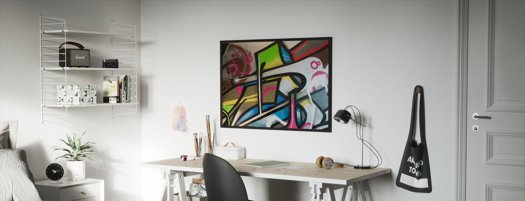Colorful Graffiti - Framed print - Kids Room