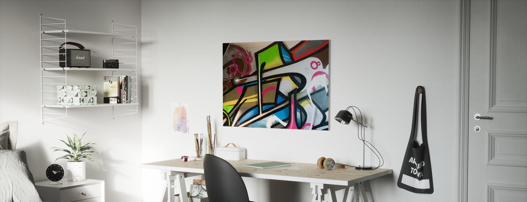 Colorful Graffiti - Canvas print - Kids Room