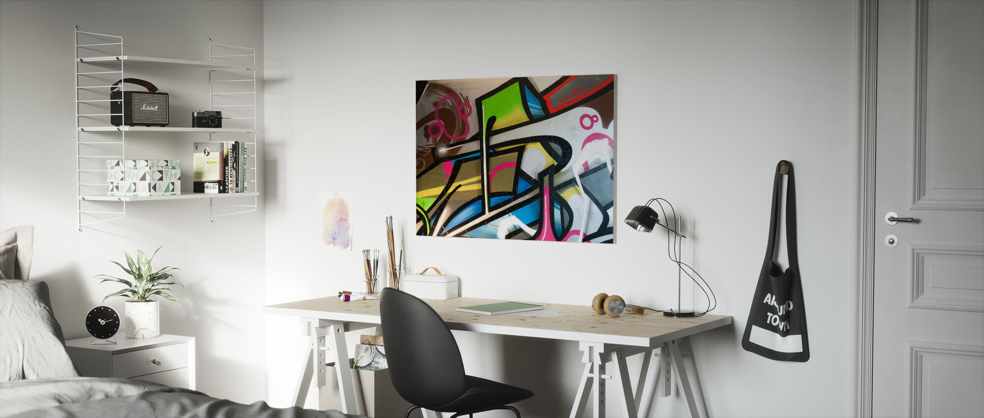 Färgglada graffiti - Canvastavla - Barnrum