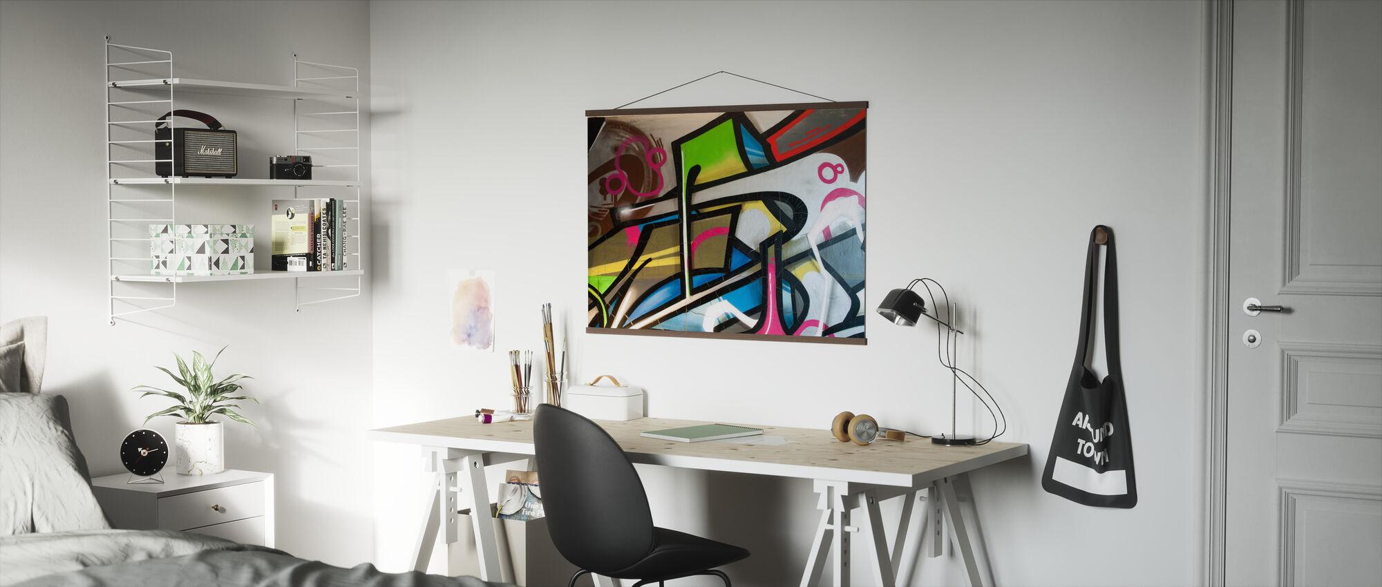 Colorful Graffiti - Poster - Office