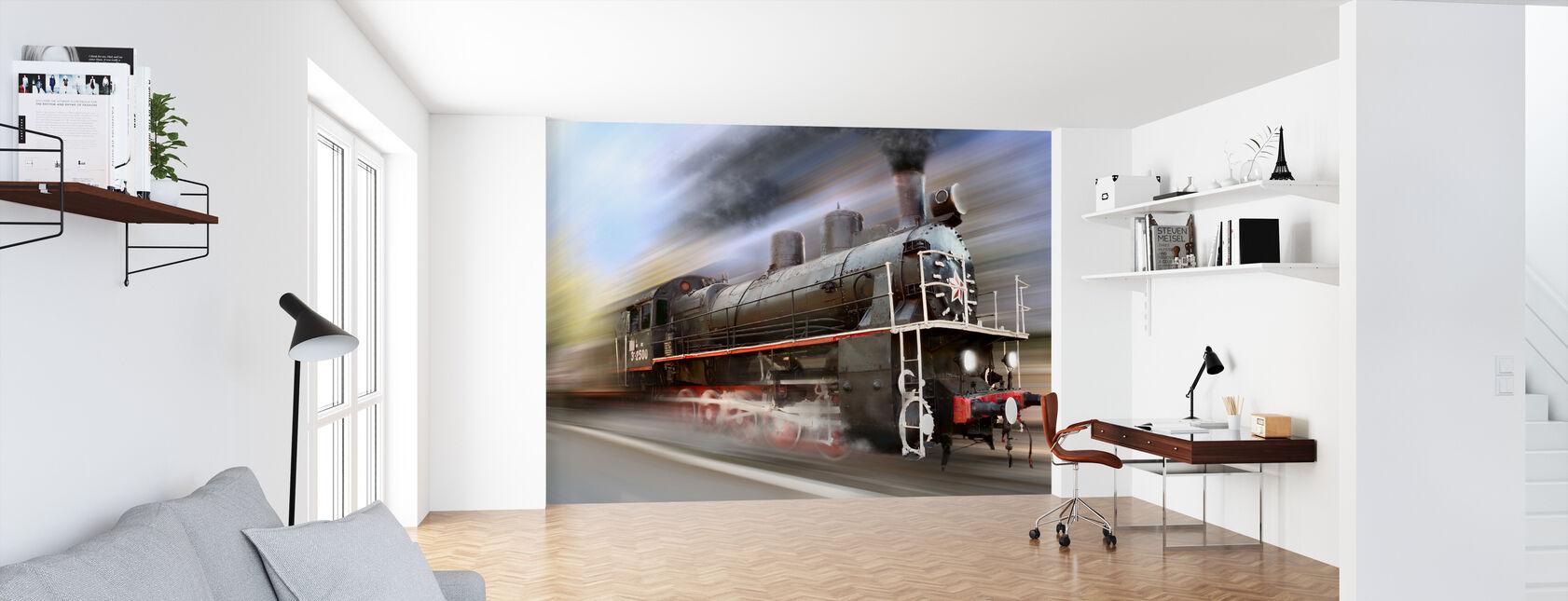 Speeding Steam Engine - Wallpaper - Office