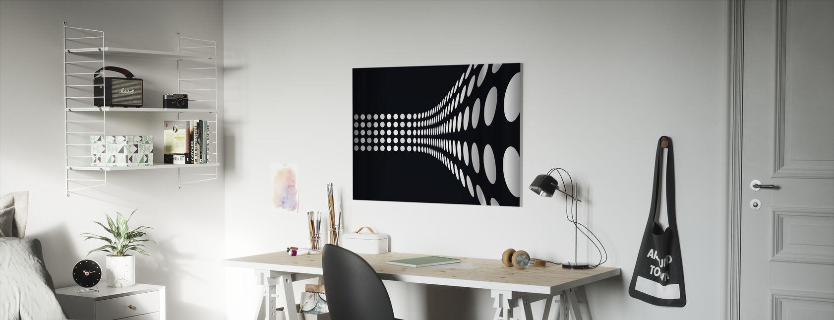 3D prickar - Canvastavla - Barnrum