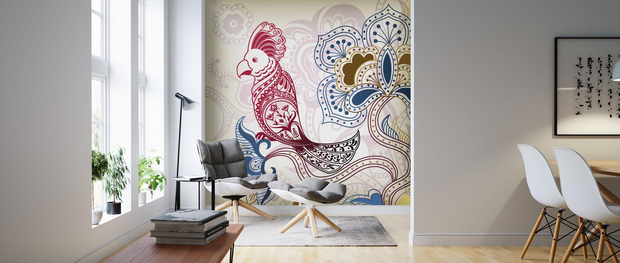 Floral Parrot - Wallpaper - Living Room