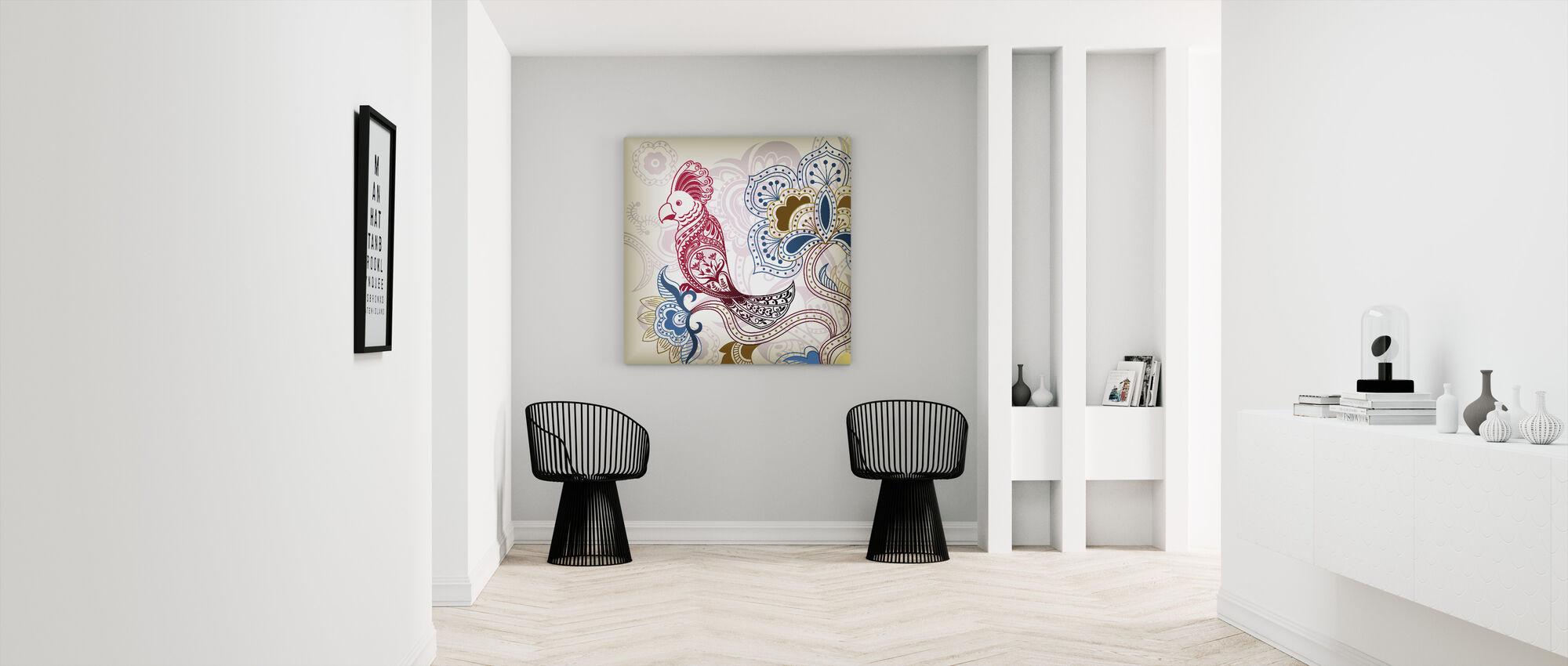 Floral Parrot - Canvas print - Hallway