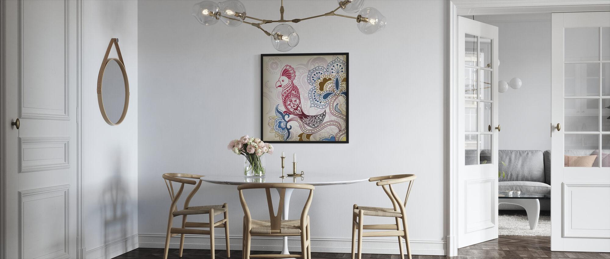 Kukka Papukaija - Kehystetty kuva - Keittiö