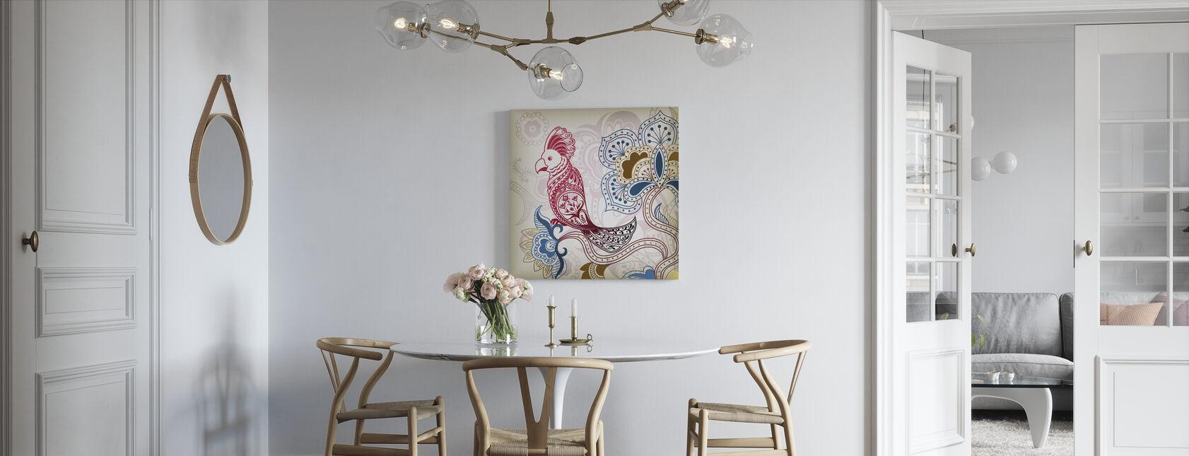 Floral Parrot - Canvas print - Kitchen