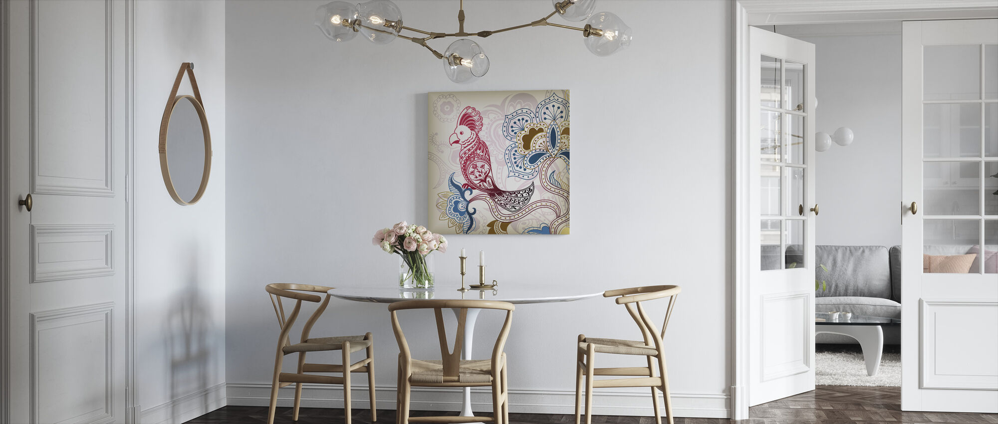 Floral Parrot - Canvas print - Kitchen