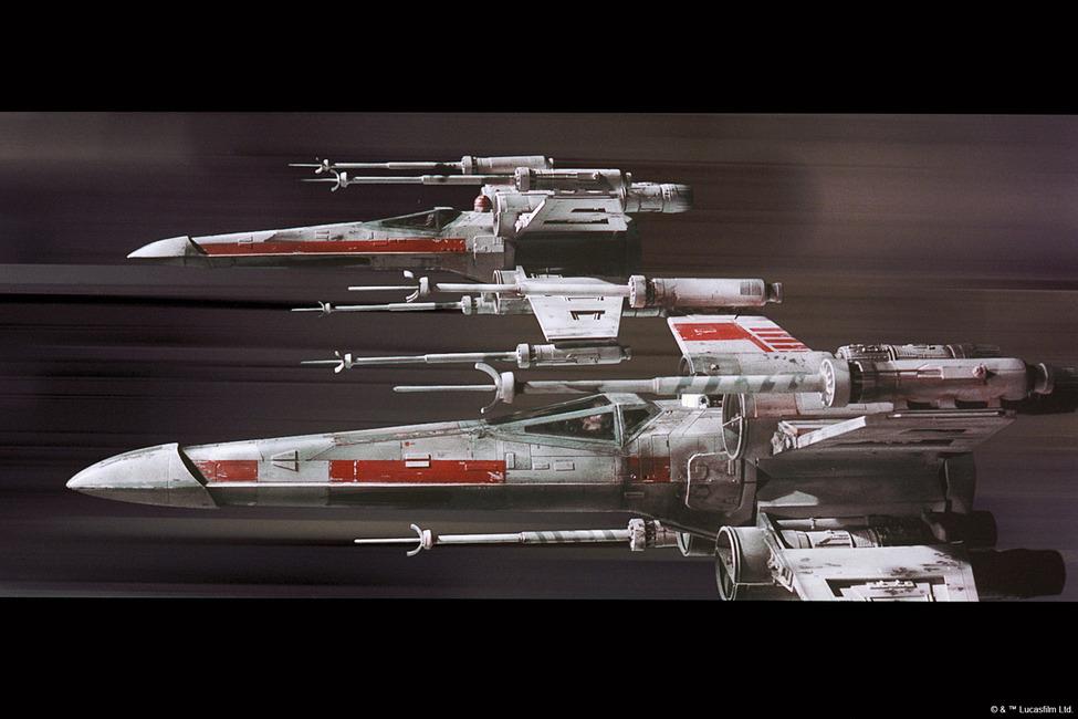 Star Wars - X-wing Fototapeter & Tapeter 100 x 100 cm