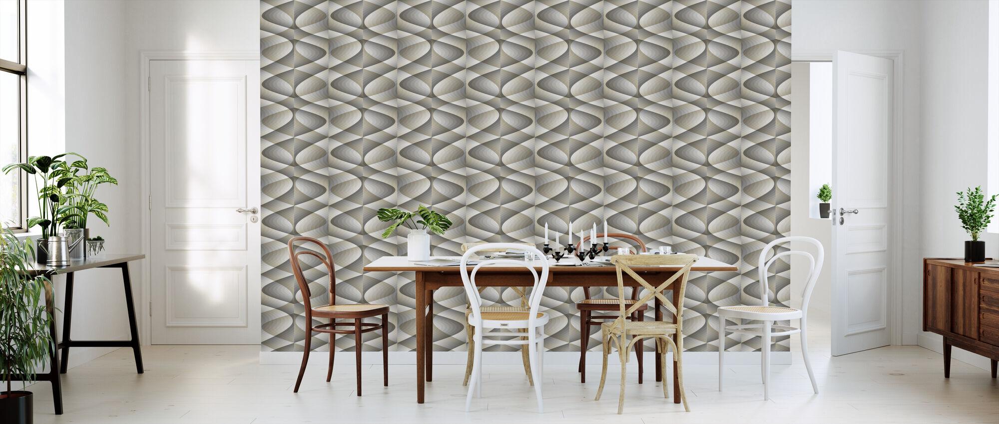3D - Beige Grey - Wallpaper - Kitchen