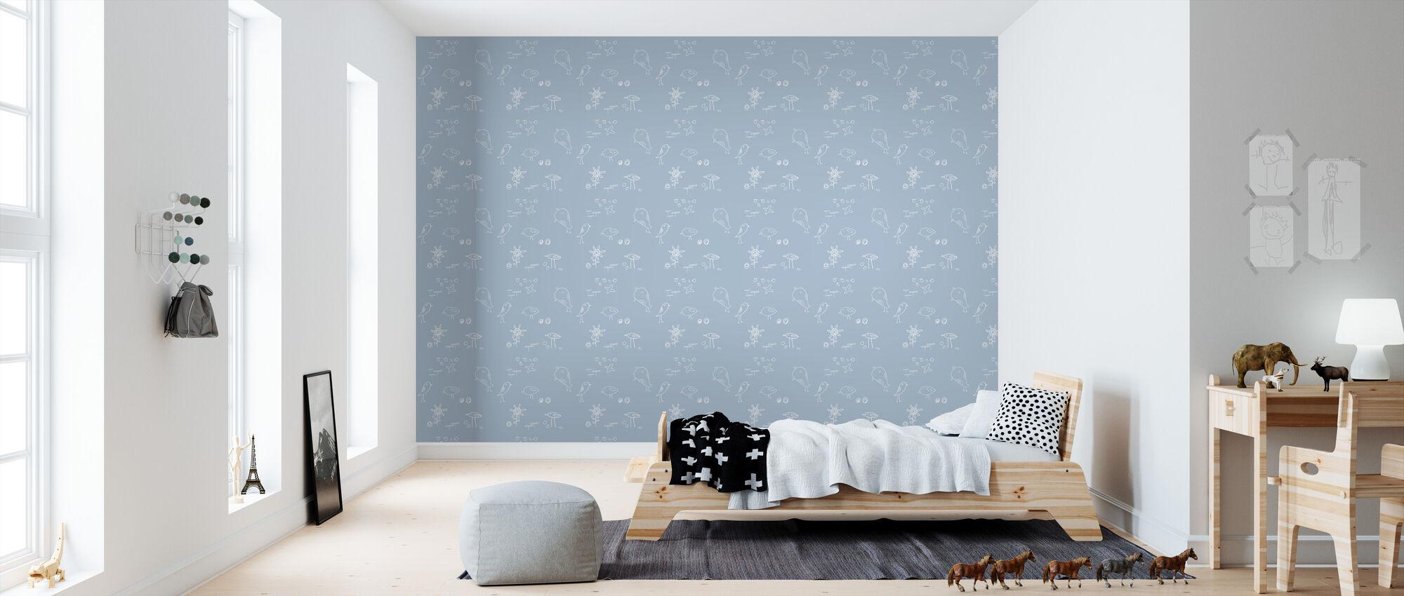 Twiggy And Bird - Gentle - Wallpaper - Kids Room