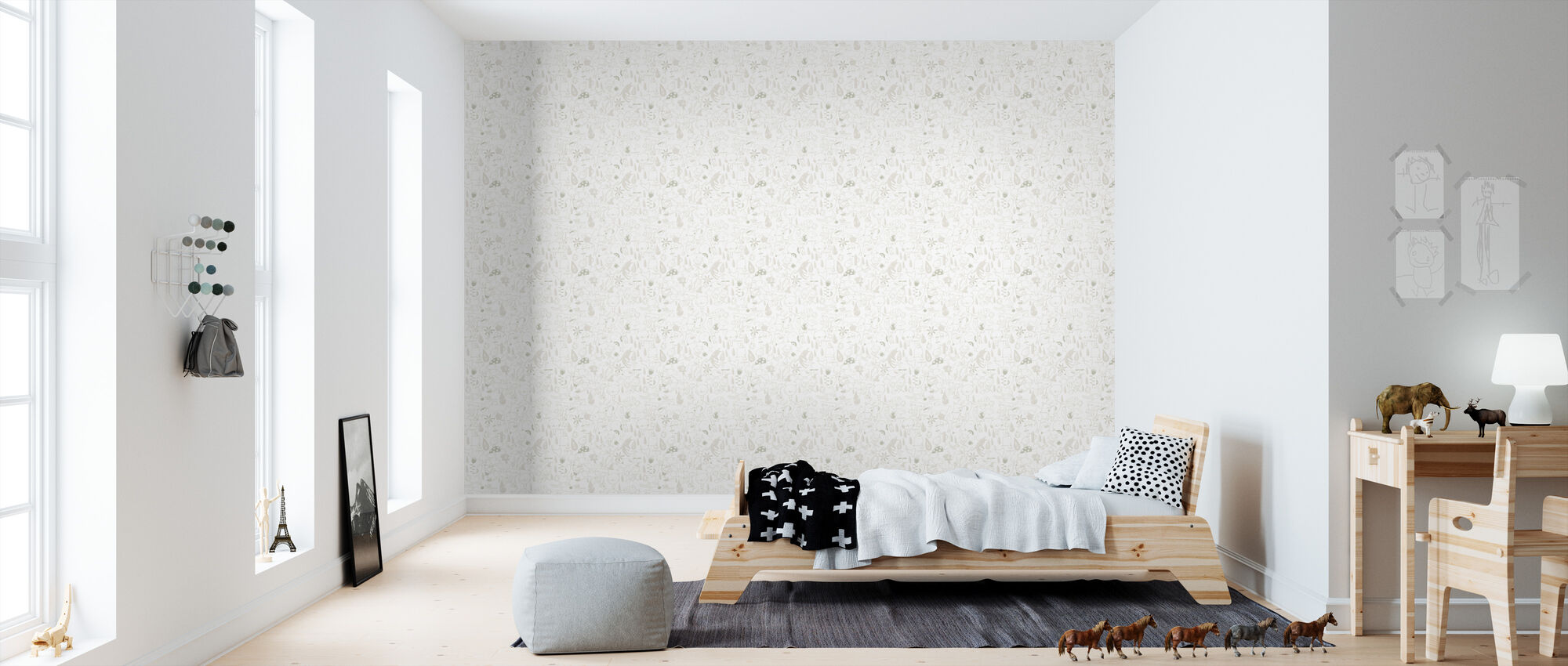 Squishy Family - Neutral - Wallpaper - Kids Room