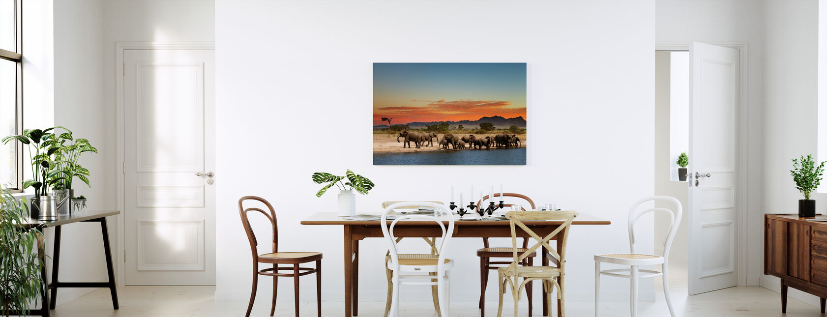 Kudde olifanten - Canvas print - Keuken