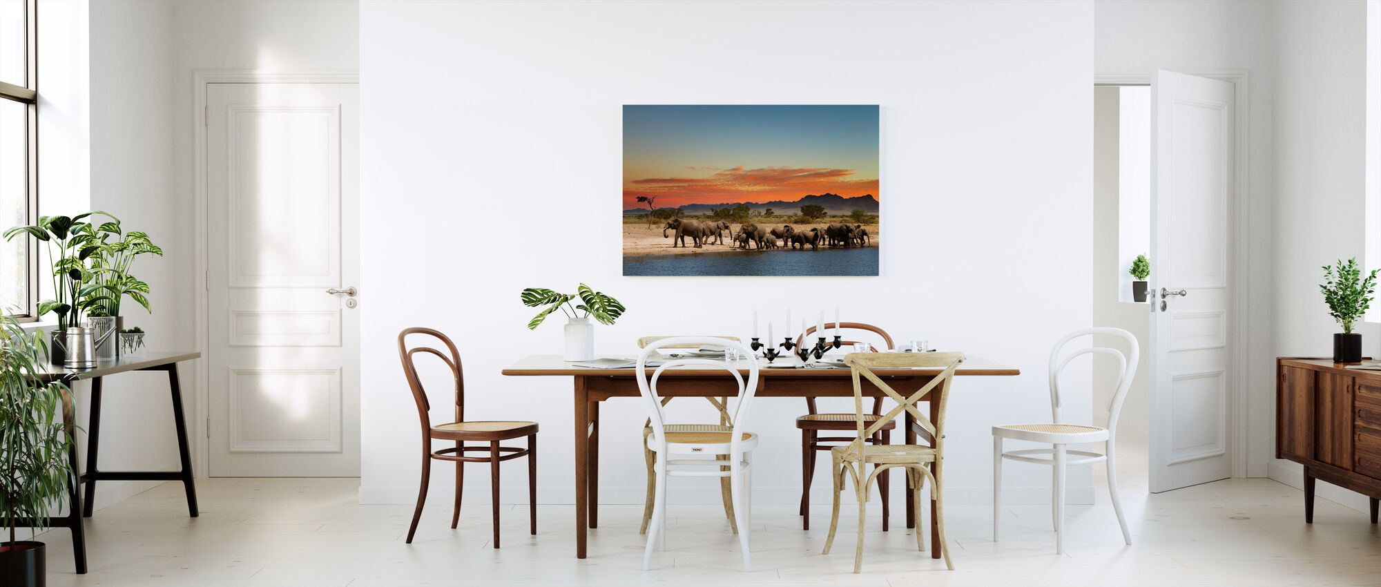 Herd of Elephants - Canvas print - Kitchen