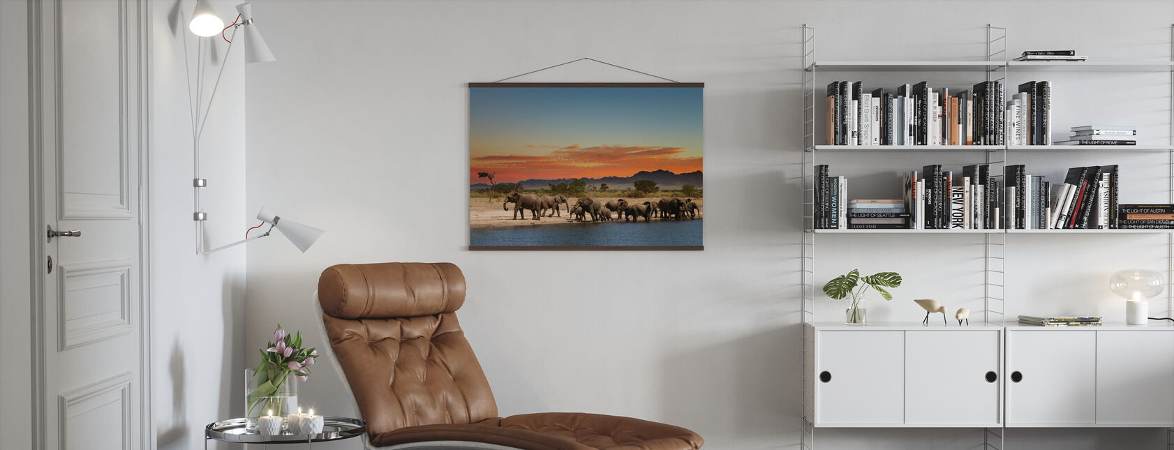 Herd of Elephants - Poster - Living Room