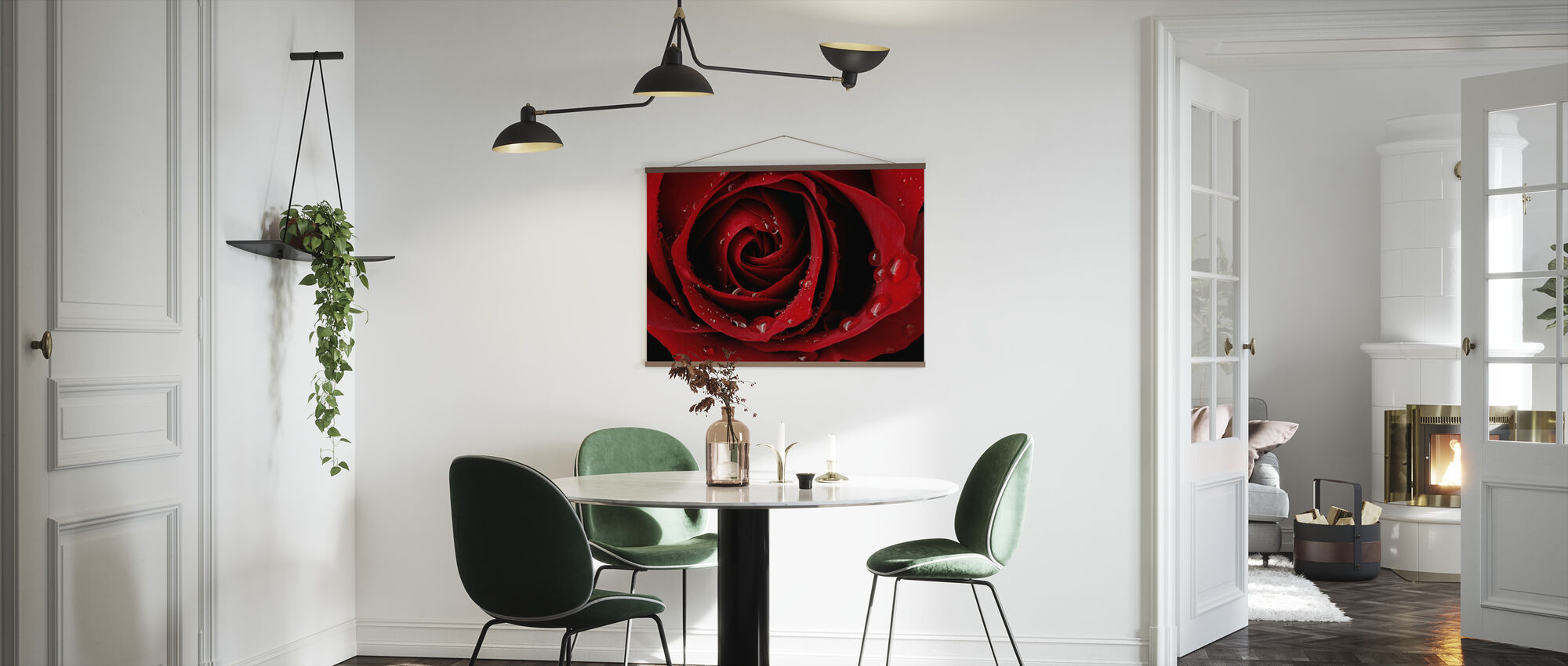 Dark Red Rose - Poster - Kitchen