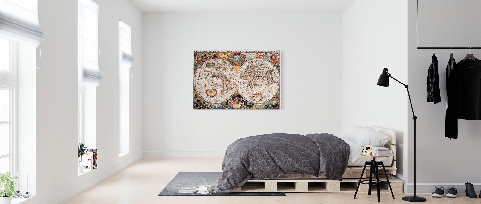 Carte antique - Henricus Hondius 1630 - Impression sur toile - Chambre