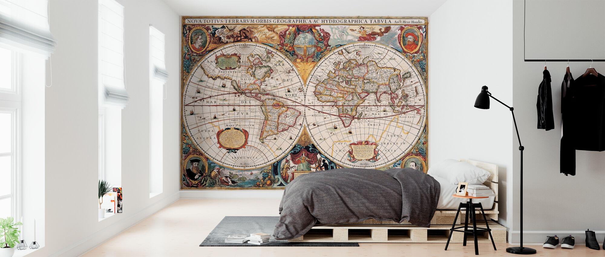 Antik Karta - Henricus Hondius 1630 - Tapet - Sovrum