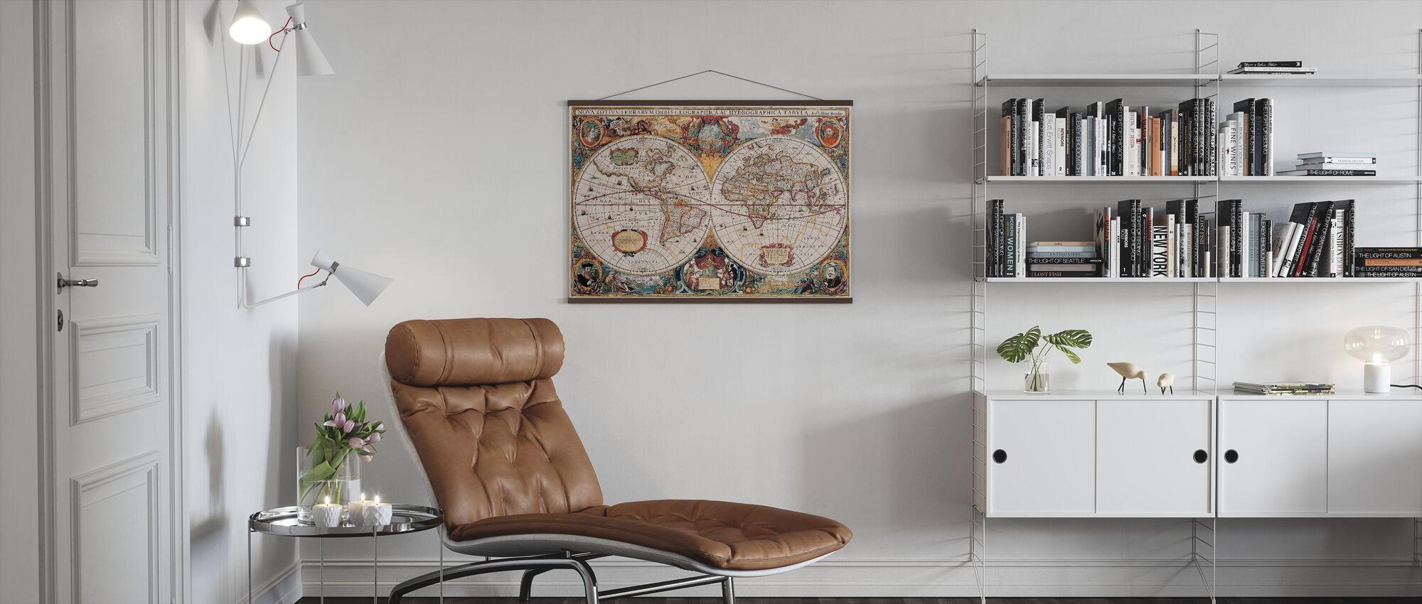 Antique Map - Henricus Hondius 1630 - Poster - Living Room