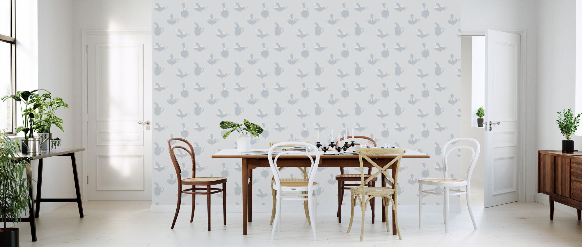 Ducks In Cups - Wallpaper - Kitchen