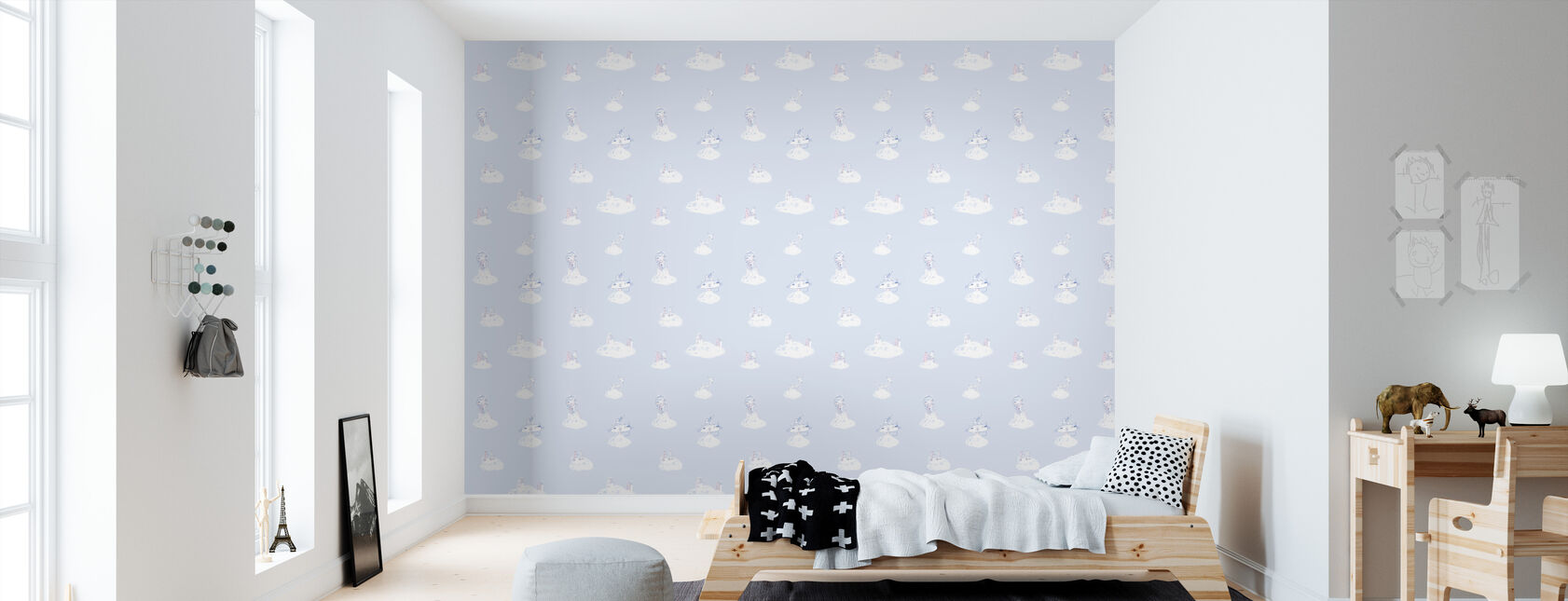 Cloud Princess - Wallpaper - Kids Room