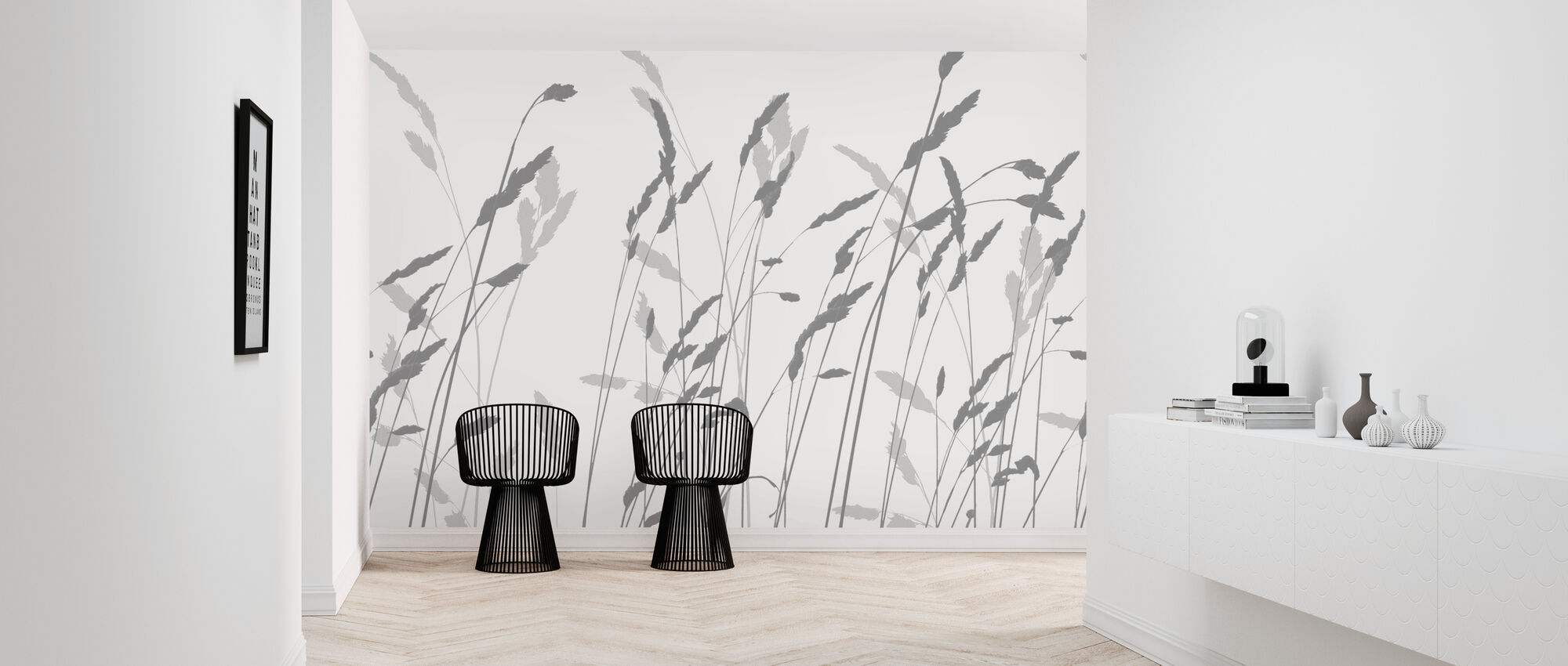 Straw - Shadow - Wallpaper - Hallway