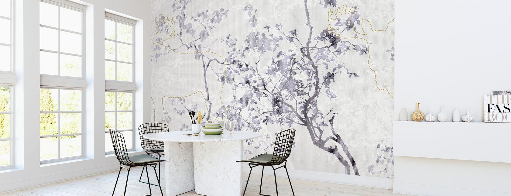 Moose Memory - Grey - Wallpaper - Kitchen