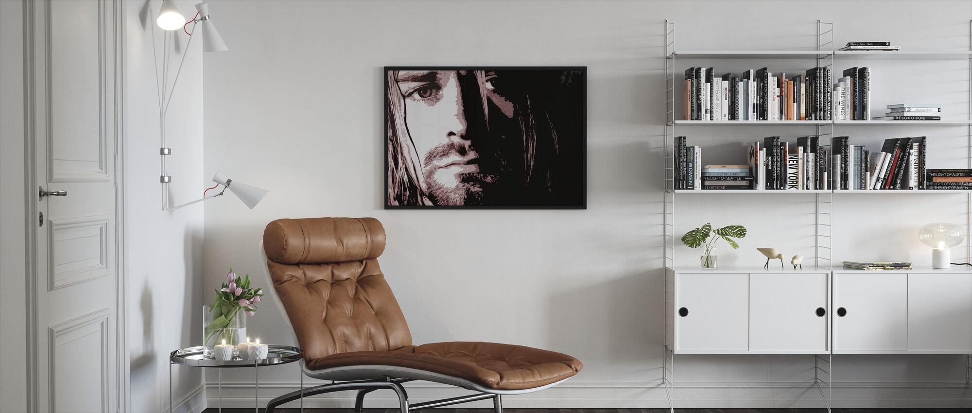 Kurt - Framed print - Living Room