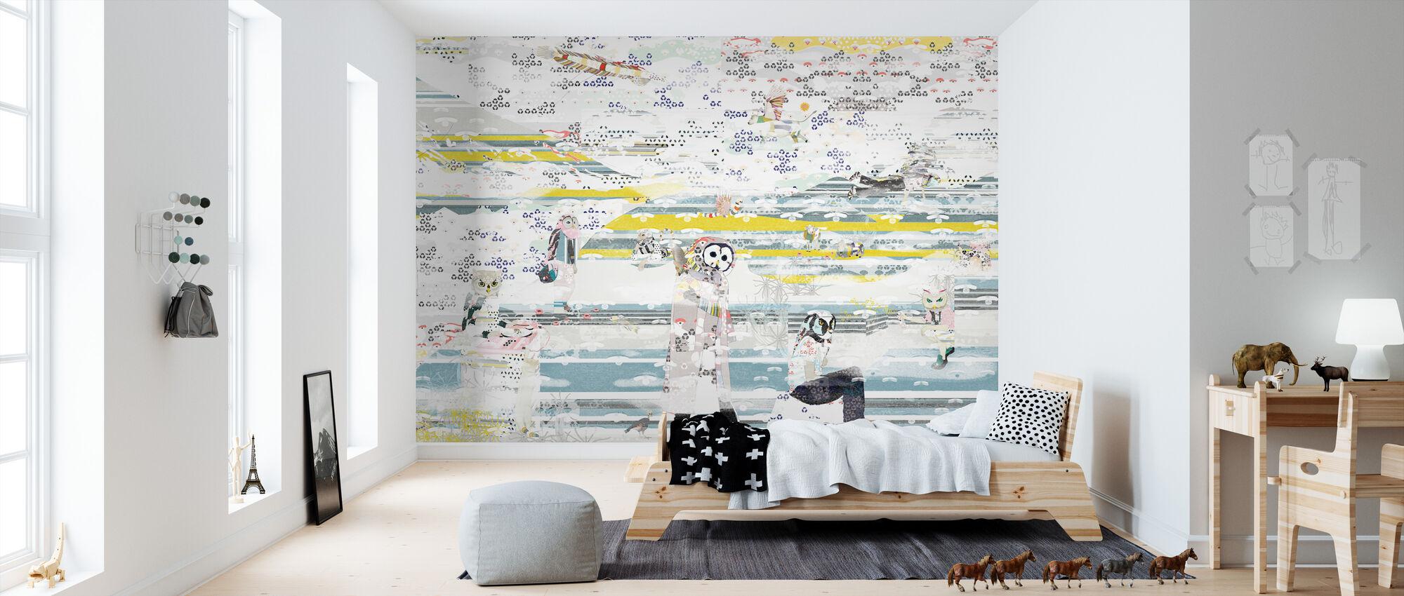Pier Fires - Fuji One - Wallpaper - Kids Room
