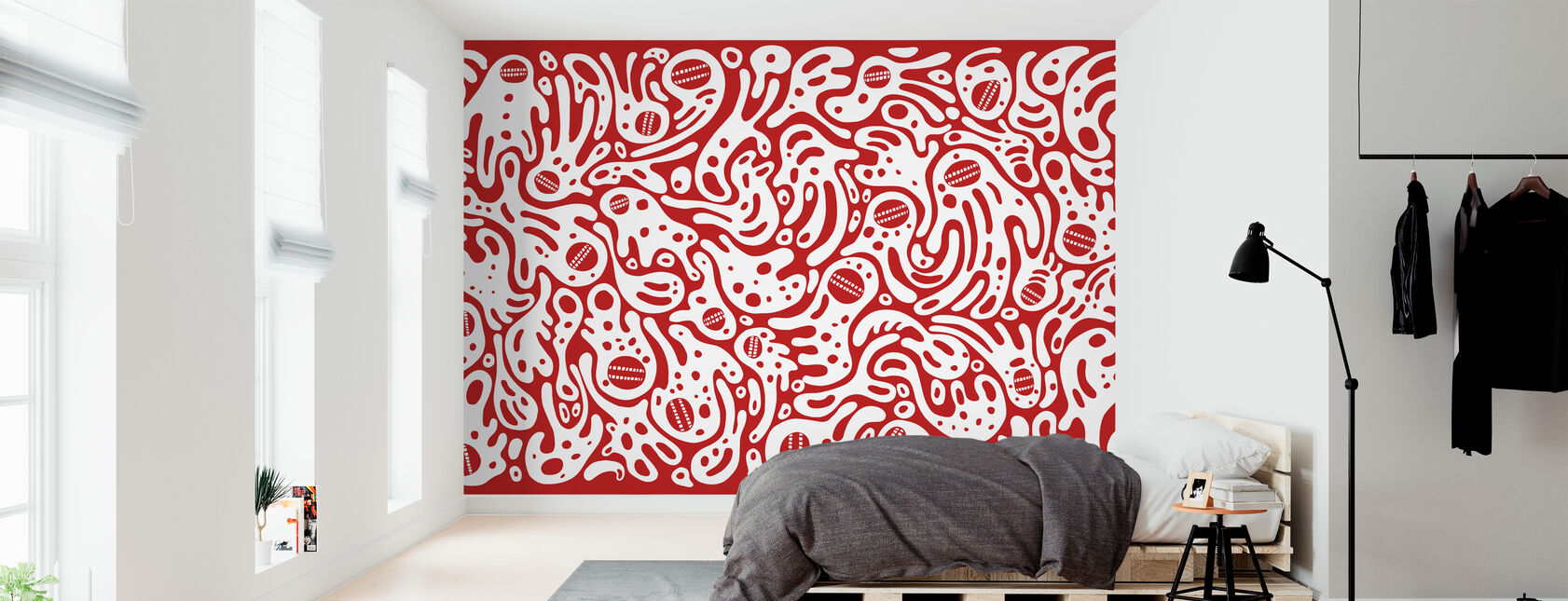 DT Wall1 - Tapete - Schlafzimmer