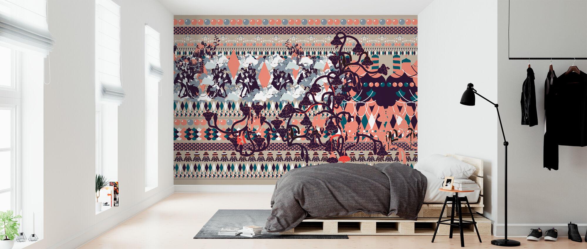 Harlequin - Green - Wallpaper - Bedroom