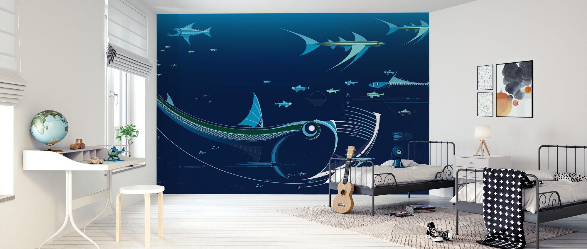 Northmix Blue - Wallpaper - Kids Room