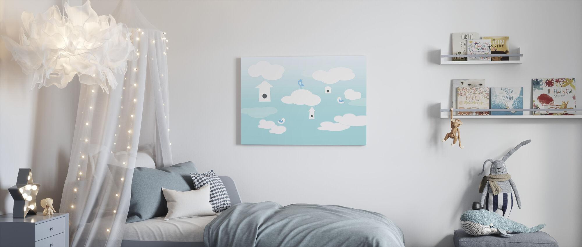 Vogels hoog - Canvas print - Kinderkamer