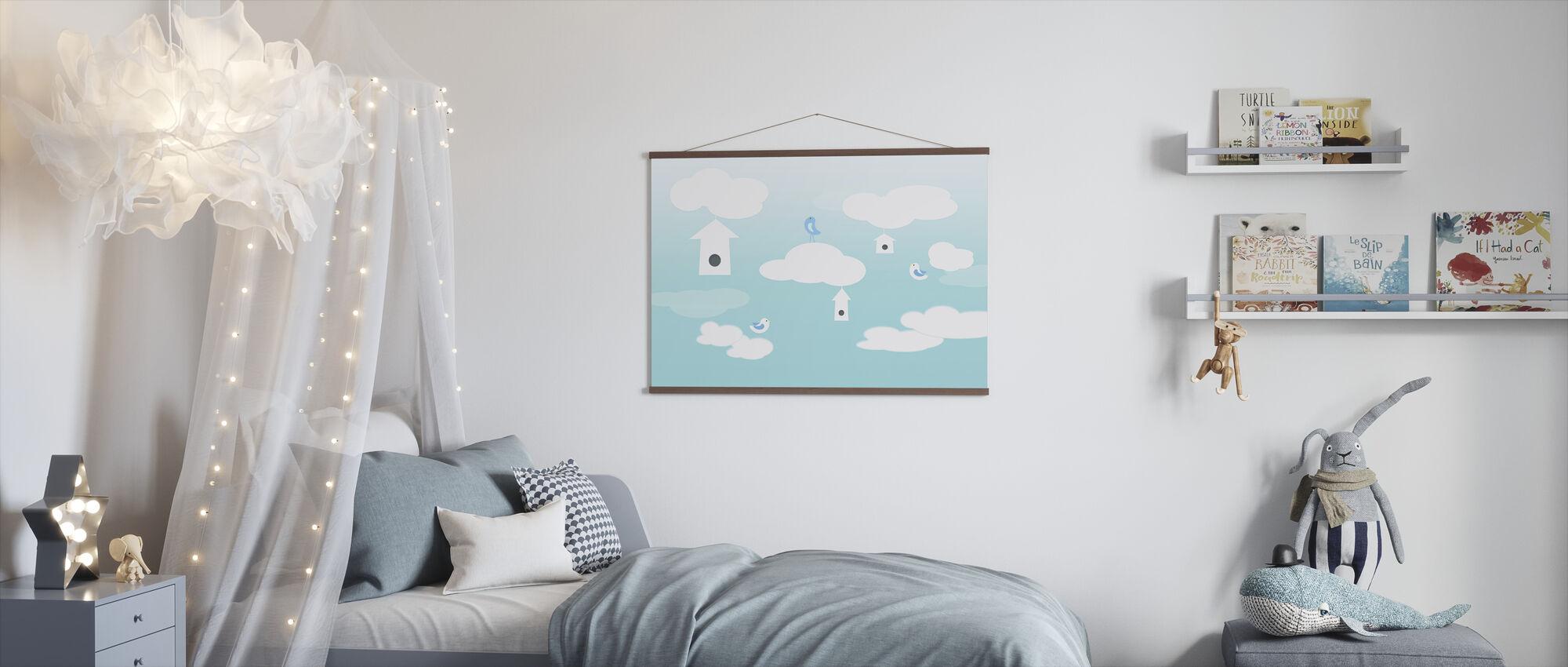 Birds up High - Poster - Kids Room