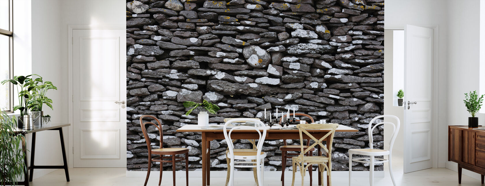 Stone Wall - Wallpaper - Kitchen