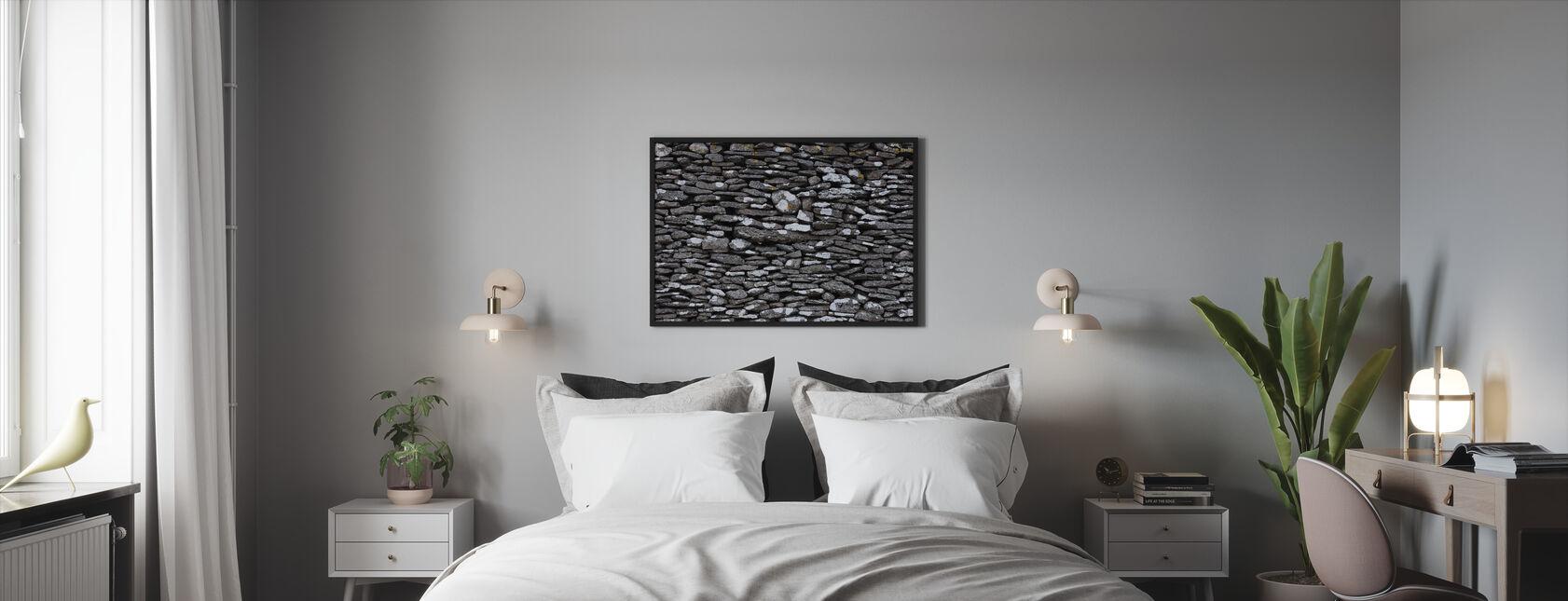 Stone Wall - Framed print - Bedroom