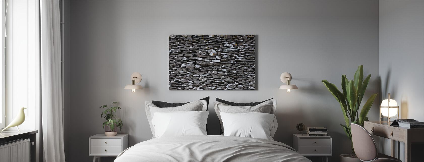 Stenen Muur - Canvas print - Slaapkamer