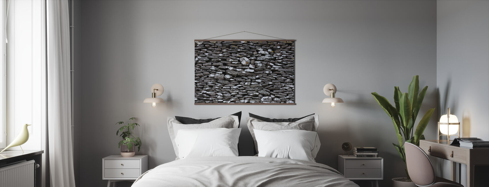 Stenen Muur - Poster - Slaapkamer