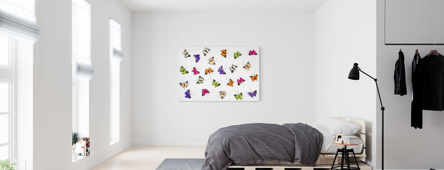 Fjärilar - Canvastavla - Sovrum