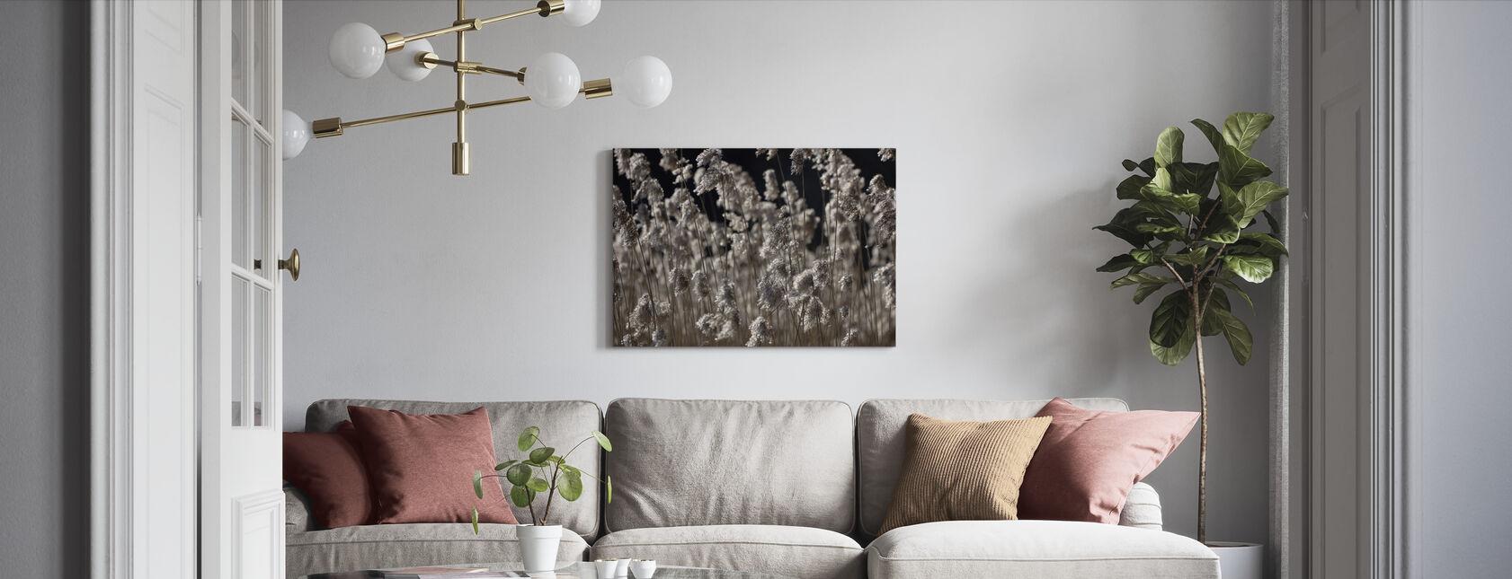Fluffy Sølv Græs - Billede på lærred - Stue