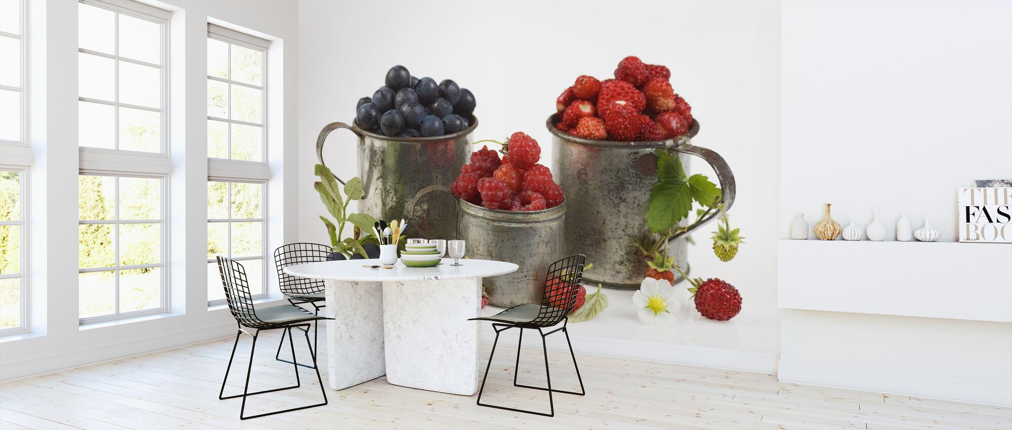 Blueberries Rasberries and Strawberries - Wallpaper - Kitchen