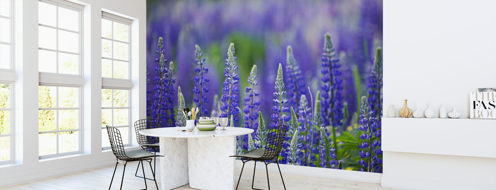 Blue Lupins - Wallpaper - Kitchen
