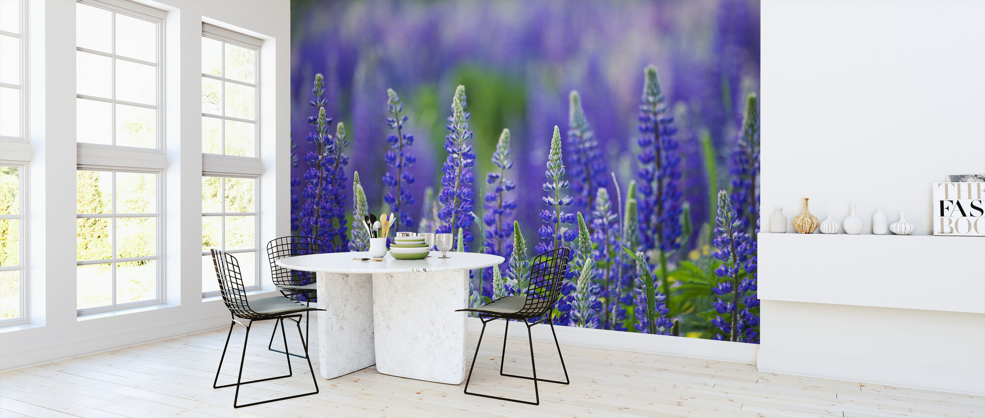 Blue Lupins - Wallpaper - Kitchen