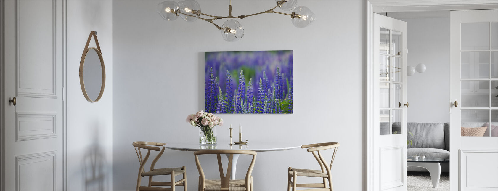 Blue Lupins - Canvas print - Kitchen
