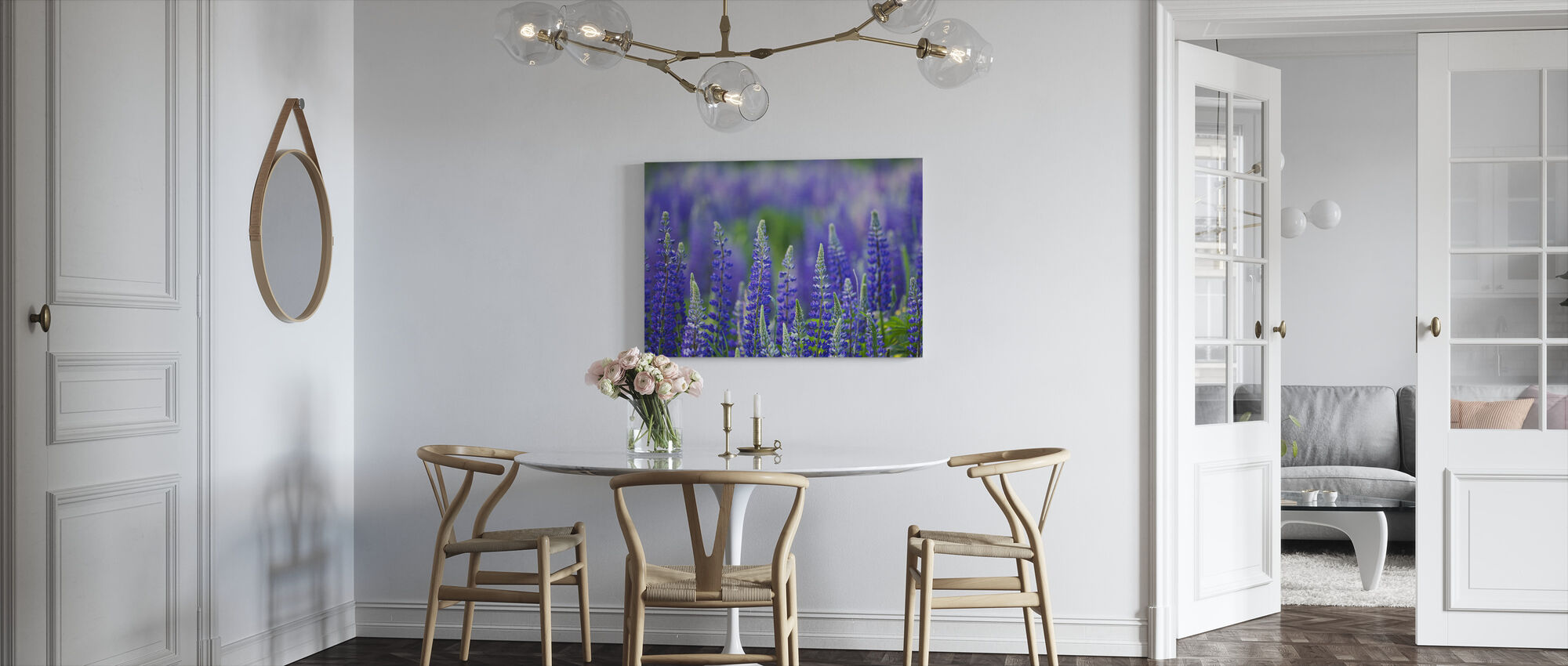 Blue Lupins - Canvas print - Kitchen