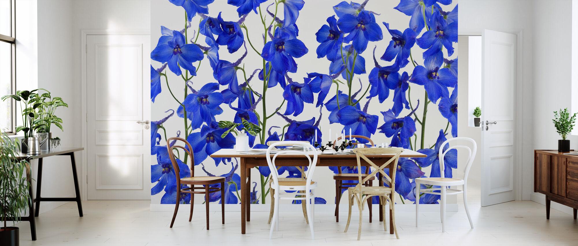 Blå Blommor - Tapet - Kök