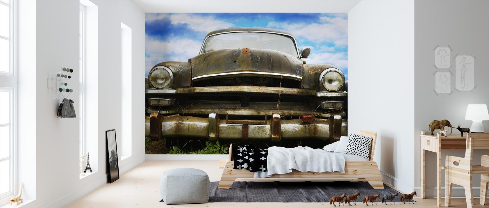 rusty old car popul r fototapet photowall. Black Bedroom Furniture Sets. Home Design Ideas
